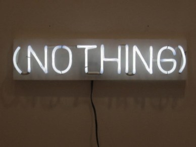 nothing neon sign