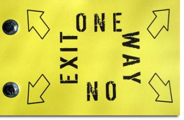 one way no exit direction lost strategy business