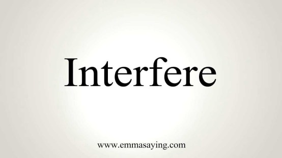 interfere word