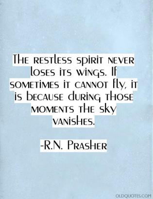 restless spirit fly vague
