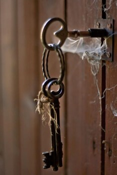 old forgotten door key Life open cobwebs