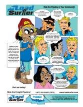 Comic advertisement