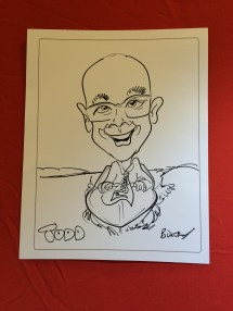 Trade show caricatures
