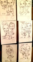 caricatures on wall