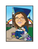 Gift caricature-graduation