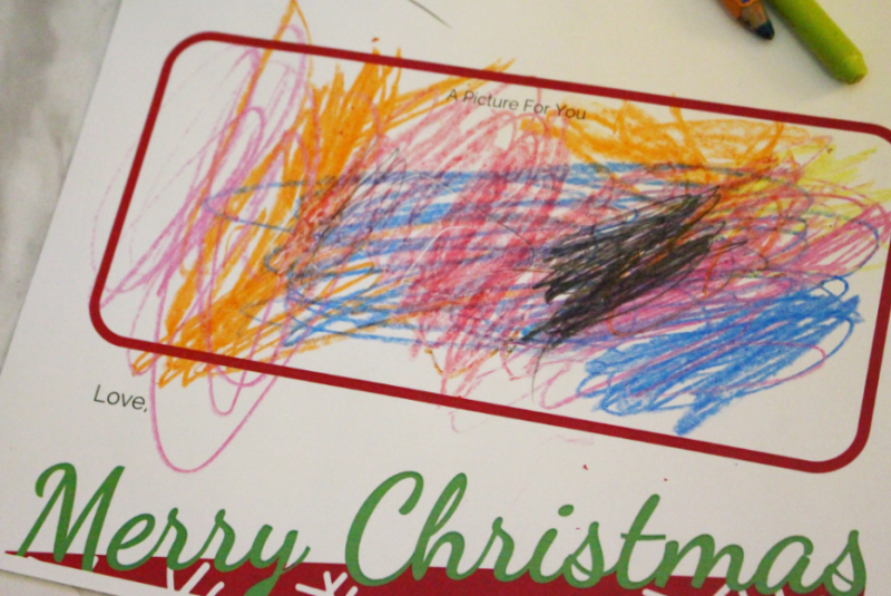 Dear Santa Toddler Art
