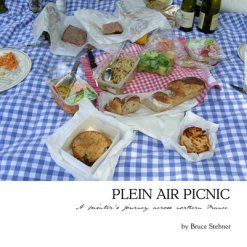 Bruce Stebner. plein air picnic. books