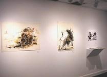 Monotypes by Bruce Waldman at the Pelham Art Center, March 2017.