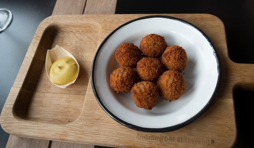 The Dutch Appetizer of Choice - Bitterballen and Mustard (They're pretty good)