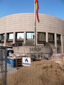 Edificio del Senado de España en obras