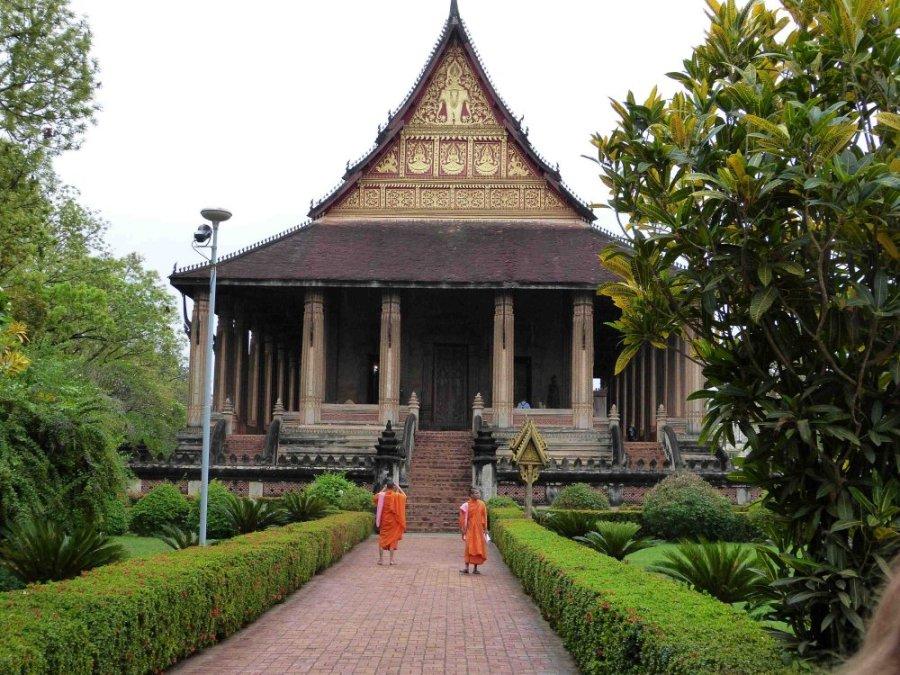 Der Ho Phra Keo Temple in Vientiane, Laos