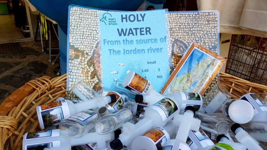 Flasche mit Jordanwasser