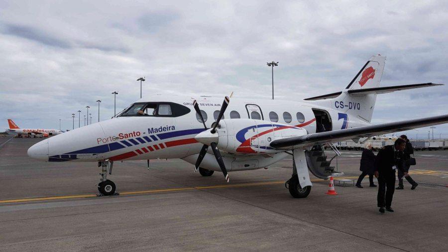 Kleinflugzeug in Madeira