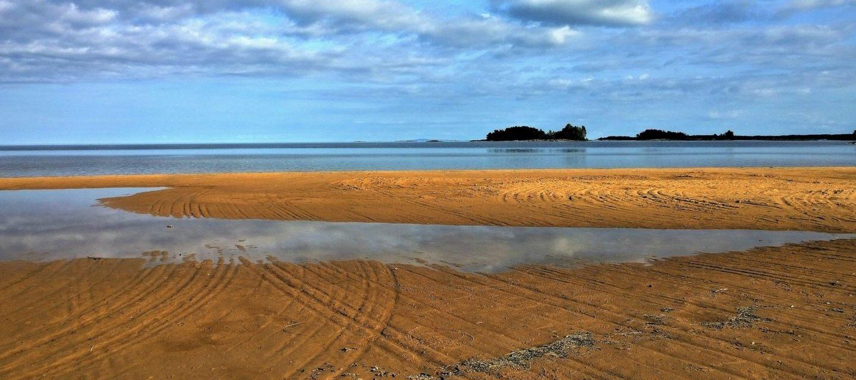 Strand in Schonen, Südschweden.