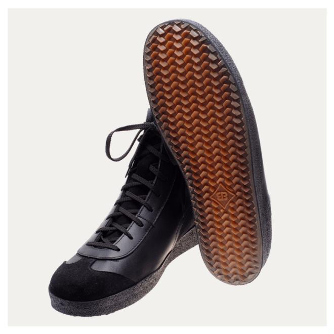 Multiplex Brütting schwarz Rindsleder haltbare Schuhe