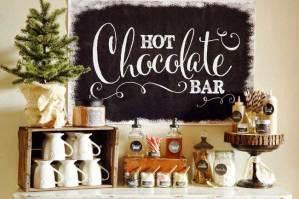 Warme chocolademelk bar