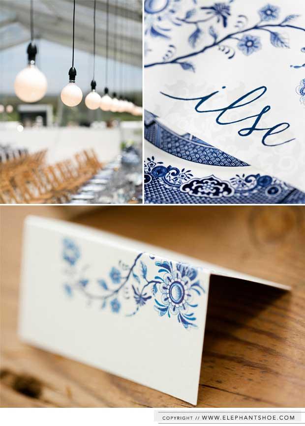 Bruiloft Delfts blauw