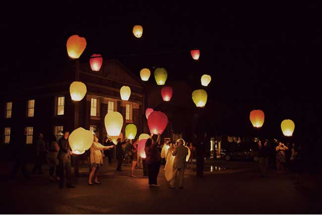Wensballonnen oplaten bruiloft