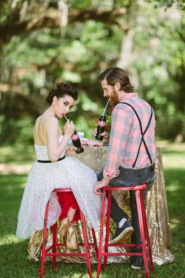 Retro bruiloft