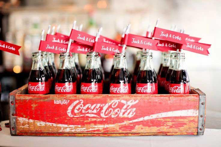 Retro Coca-Cola flesjes