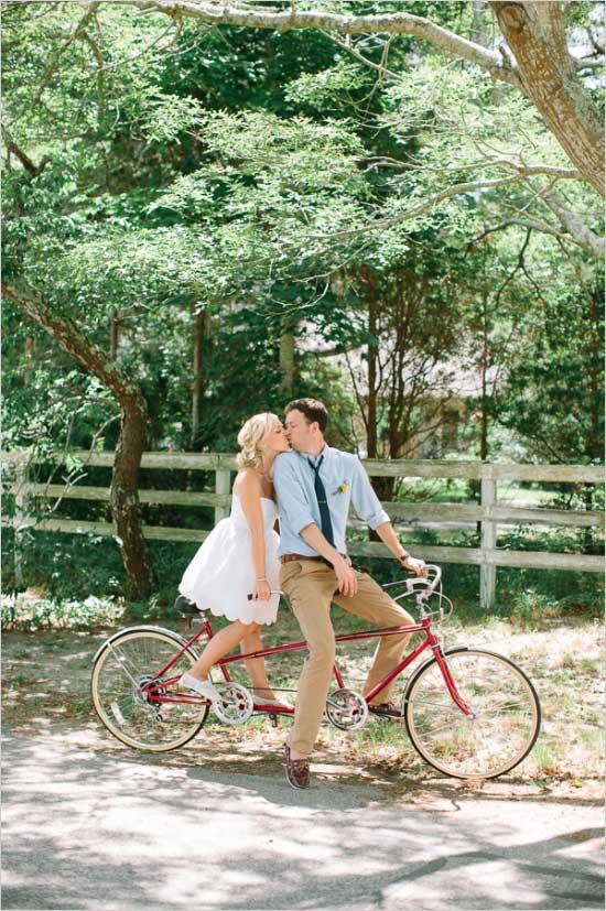 Fiets als origineel trouwvervoer