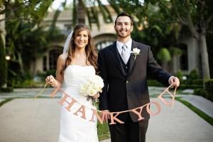 Bedankkaartje bruiloft
