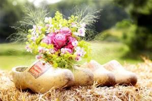 Hollandse thema bruiloft met klompen