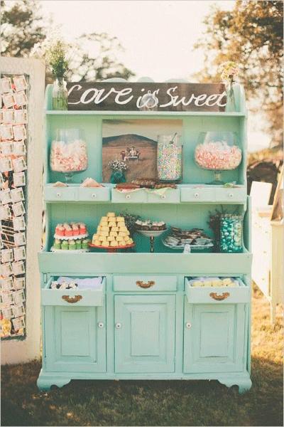 Vintage dessert buffet
