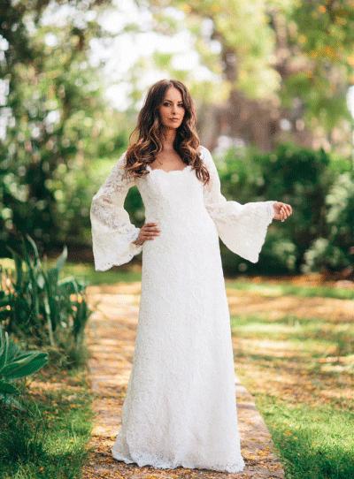 Beroemd De mooiste trouwjurken met lange mouwen | Bruiloft Inspiratie &RZ39