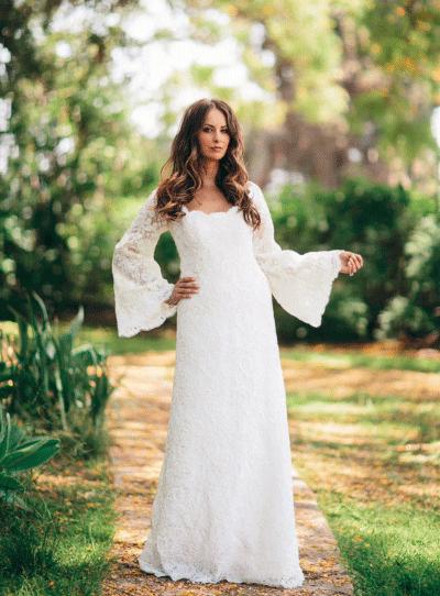 Beroemd De mooiste trouwjurken met lange mouwen   Bruiloft Inspiratie &RZ39