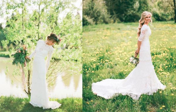 De Mooiste Trouwjurken Met Lange Mouwen Bruiloft Inspiratie