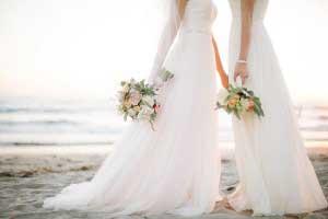 Bij lesbische bruiloften zijn er twee bruidjes