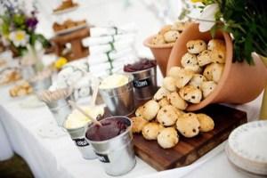 High tea op een bruiloft