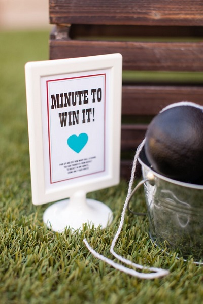 Minute to Win It op een bruiloft