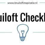 Bruiloft checklist