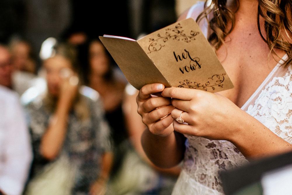 Geloften tijdens ceremonie