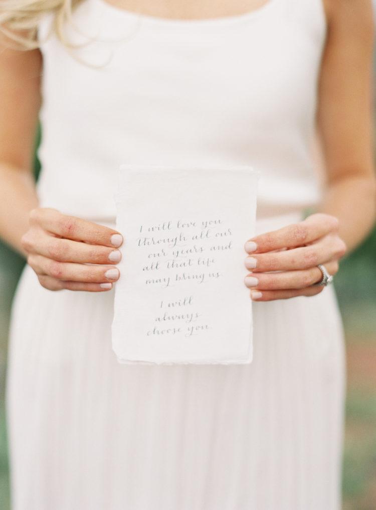 Bruid met geloften