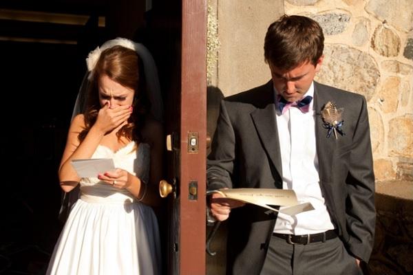 Brief bruid en bruidegom