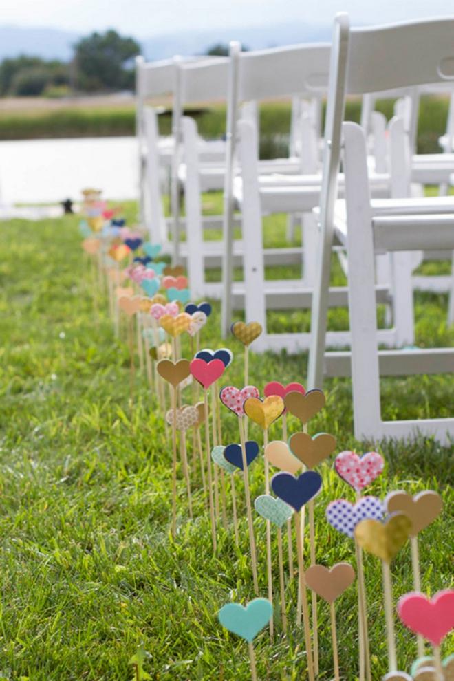 DIY bruiloft styling bij de ceremonie