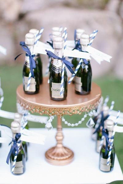 Mini champagne flesjes
