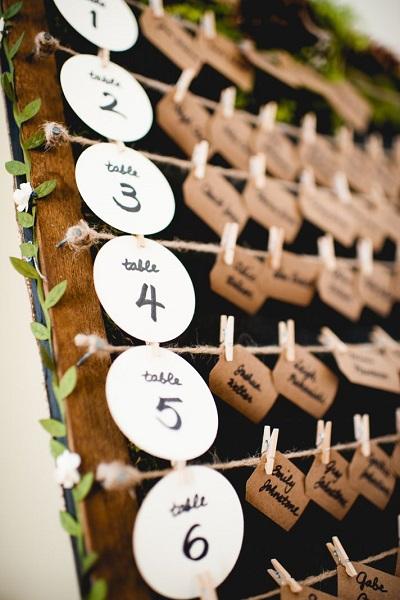 Tafelschikking bruiloft diner