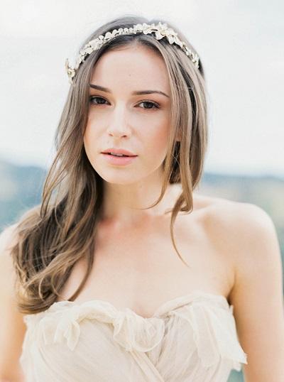 Bruid met natural look