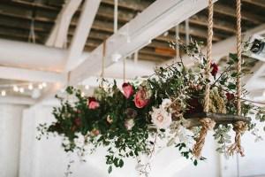 Hangende bloemstukken