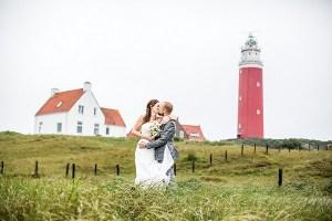 Bruiloft bij vuurtoren