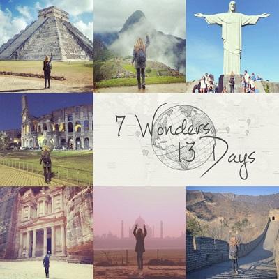 Zeven wereldwonderen huwelijksreis