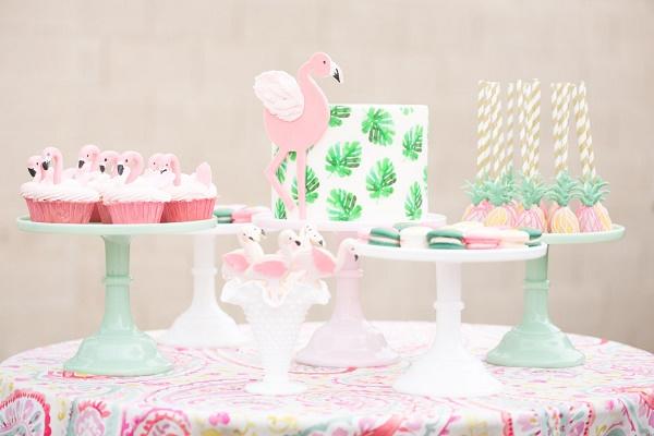 Flamingo bruiloft