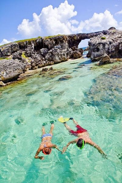 Snorkelen op huwelijksreis