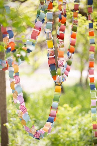 DIY festival bruiloft slingers