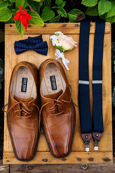 Trouwschoenen en accessoires bruidegom