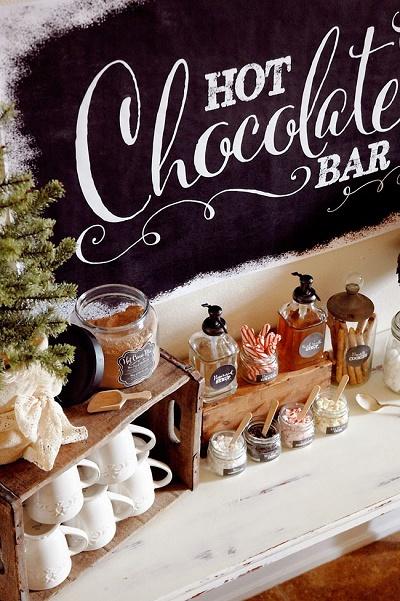 Winterbruiloft tips chocolademelk
